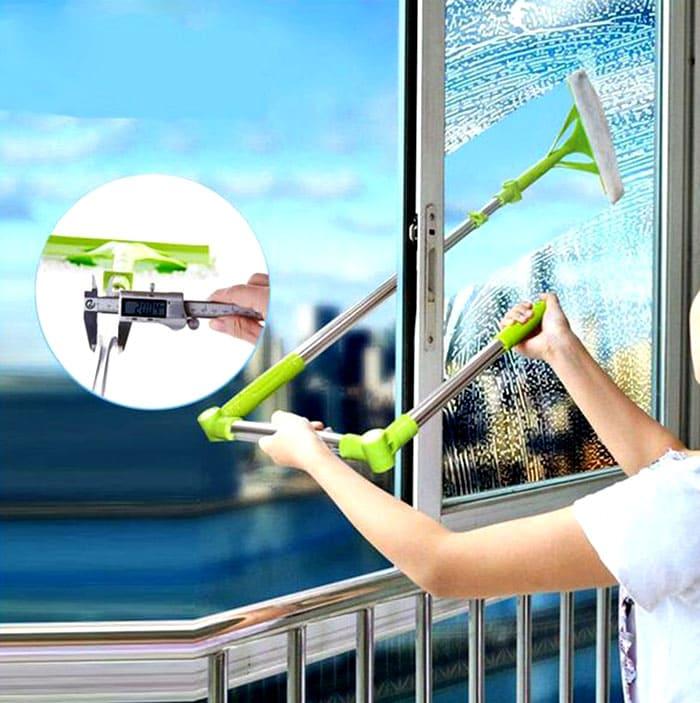 Этот ручной инструмент поможет вам без риска вымыть окна на любом этаже