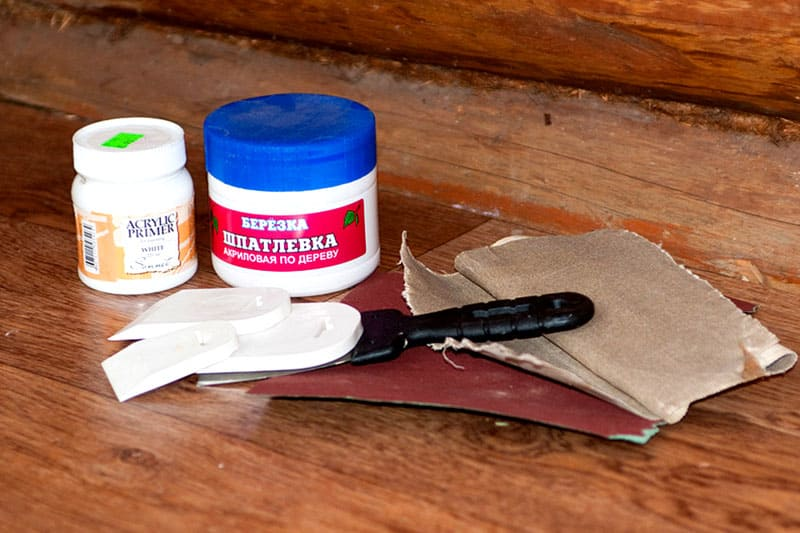 Инструменты и материалы для подготовки заготовки под роспись