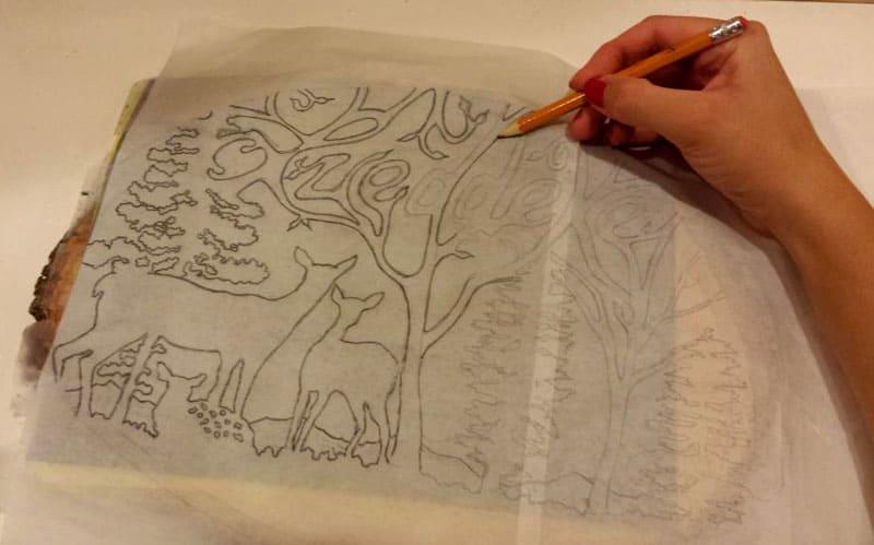 Перенос рисунка при помощи кальки