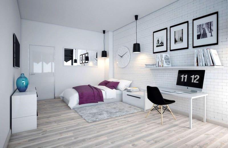 В декоре обязательно должны присутствовать яркие детали, например, небольшие подушки, красивые подставки для растений, картины