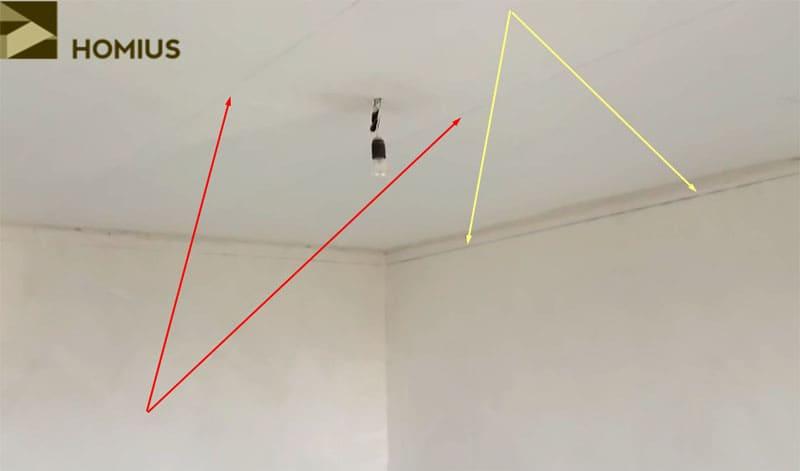 Разметка окончена – можно приступать к сборке каркаса для подвесного потолка