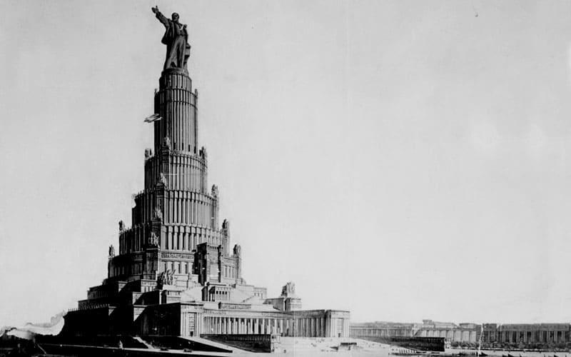 Неосуществлённый грандиозный проект Дворца советов 1930 г.