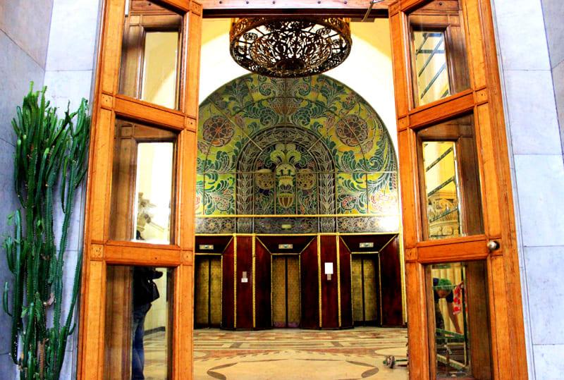 Лифтовая площадка дома «Авиаторов»