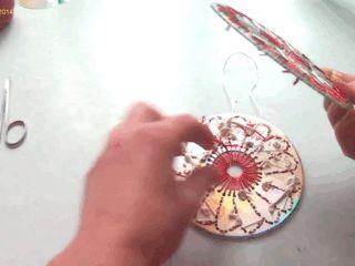 Поделки из старых CD-дисков: блестящие идеи для оформления дома и сада