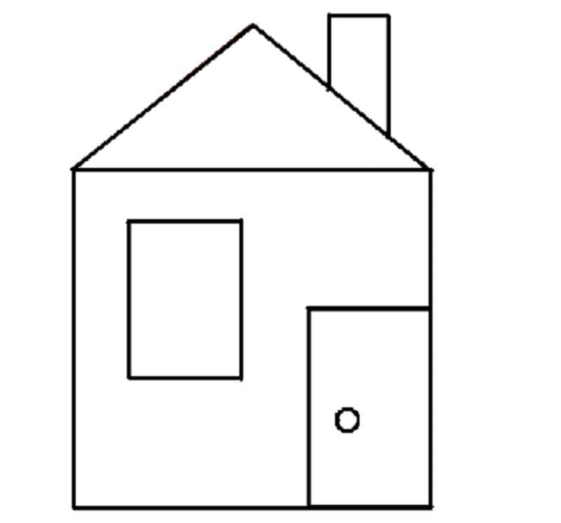 тому картинка раскраска домик из геометрических фигур указана