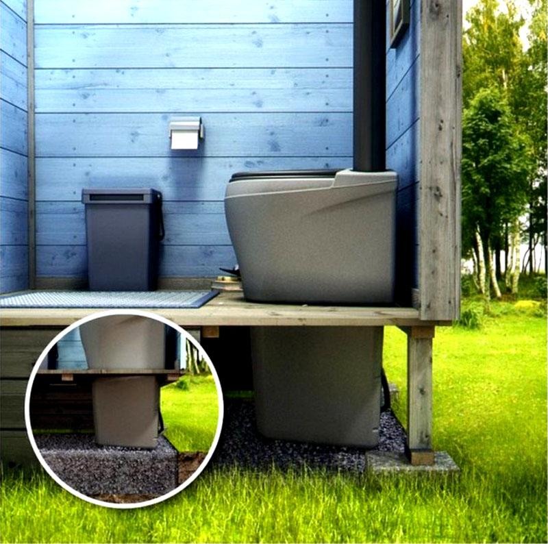 Особенность работы туалетов такого типа в том, что весь процесс переработки отходов протекает внутри конструкции