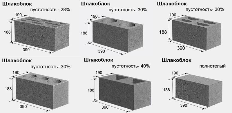 Разнятся также формы и оттенки готового строительного материала, что позволяет использовать его при строительстве разных объектов