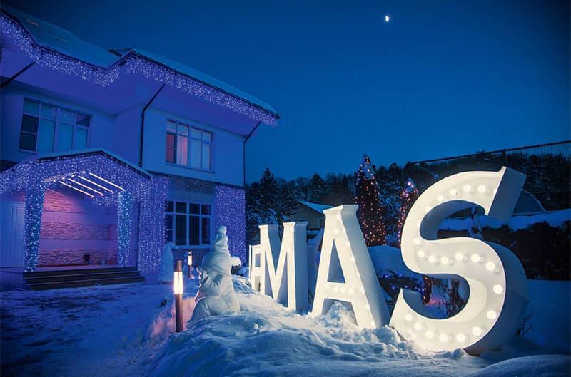 Новогоднее украшение дома на Рублёвке