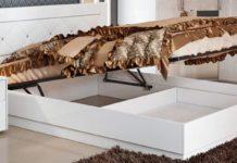 Двуспальная кровать с подъёмным механизмом