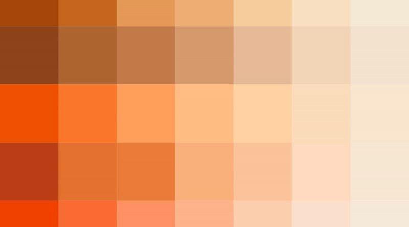 Разнообразие персиковых оттенков
