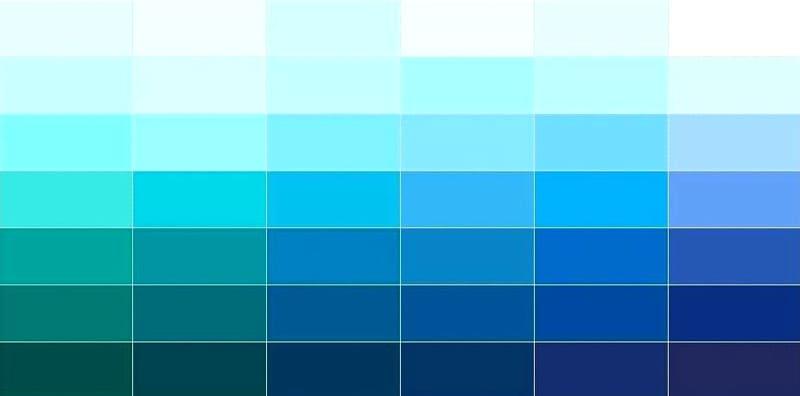 Все оттенки синего
