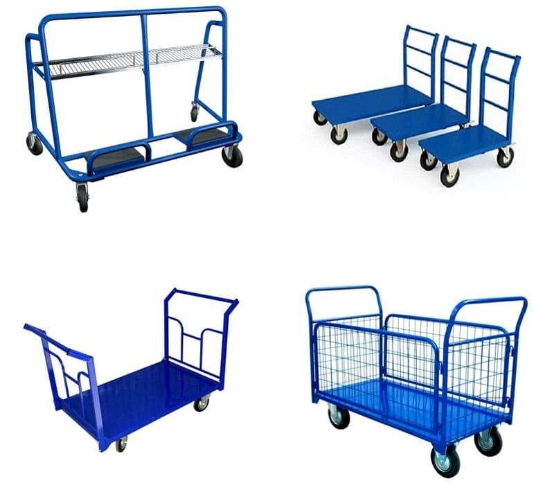 Виды грузовых тележек для перевоза крупногабаритных грузов