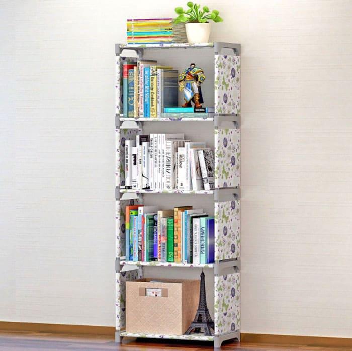 Нетканый стеллаж для хранения игрушек и книг – избавит вас от стирки и уборки