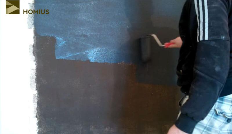 Наносим последний третий слой металлизированного покрытия
