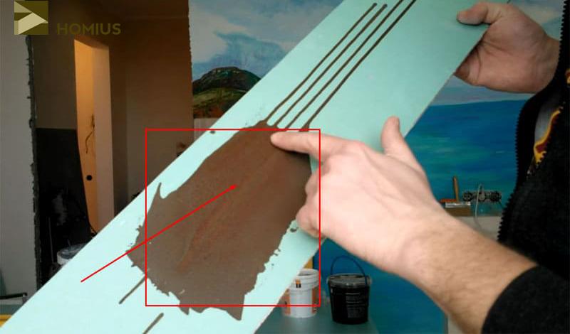 Опыт с отрезком гипсокартона указал на необходимость тщательного перемешивания магнитной краски перед использованием