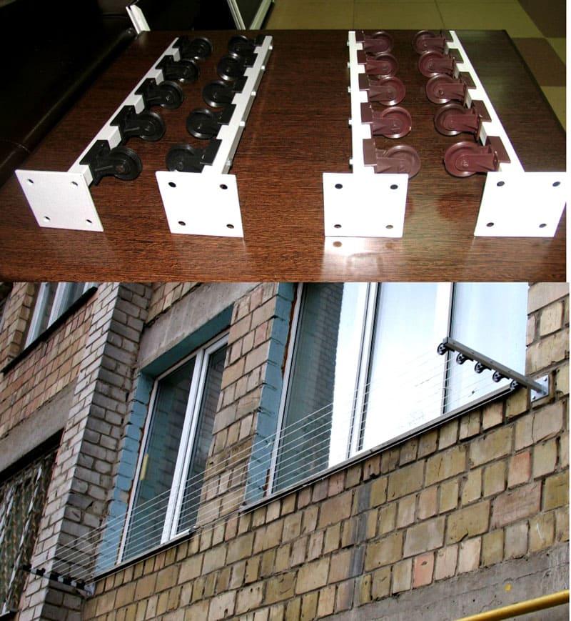 Модель сушки с подвижными роликами на кронштейнах