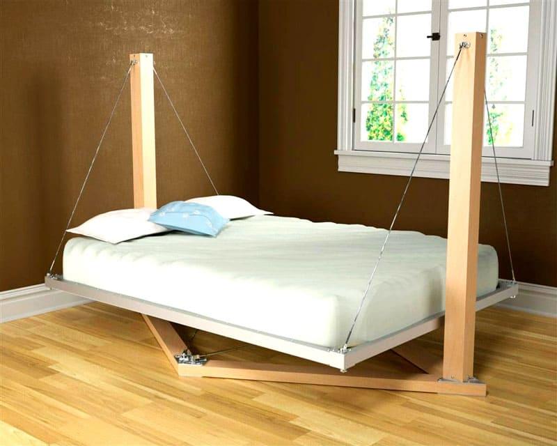 Оригинальная идея для подвесной кровати без сверления потолка