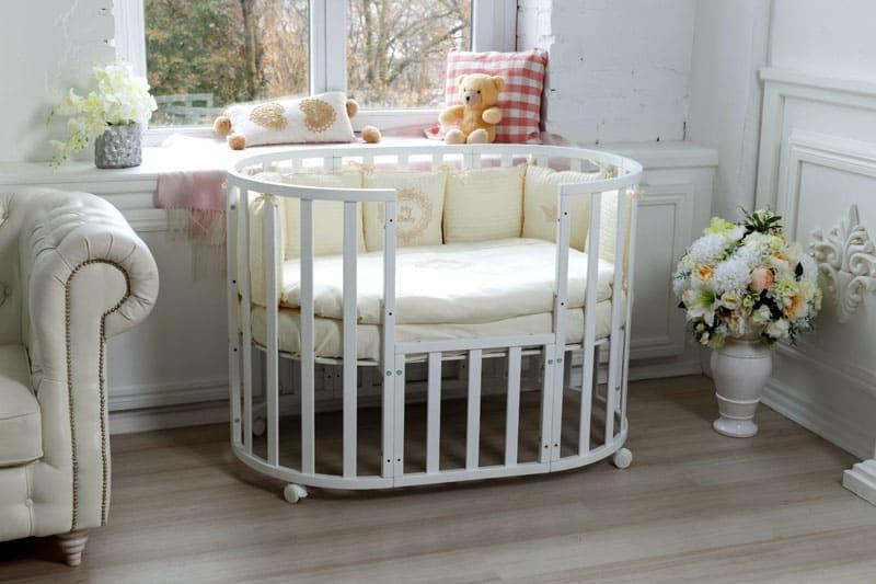 Круглые кроватки имеют стильный внешний вид