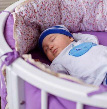 Круглая кроватка-трансформер для новорождённых