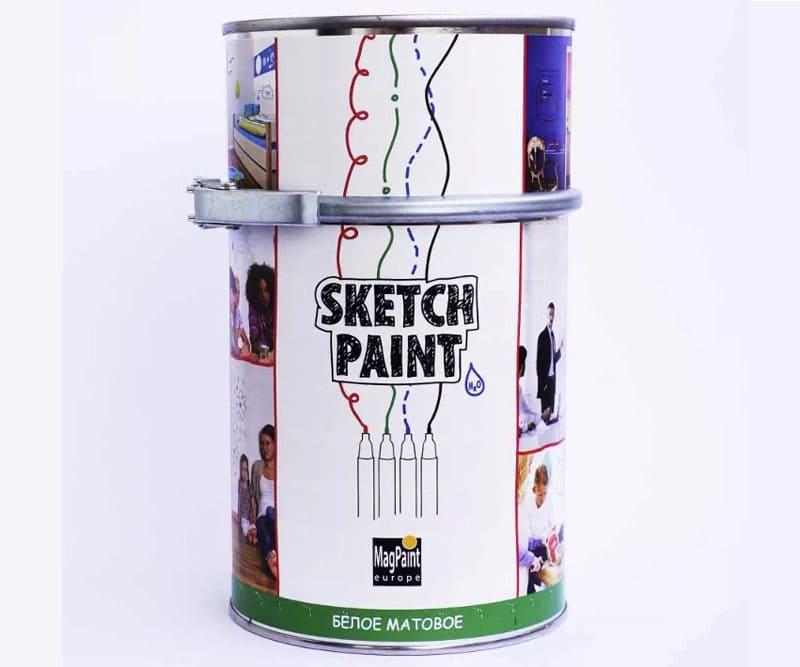 «Sketch Paint» - один из самых популярных производителей белой маркерной краски
