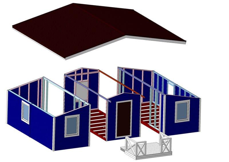 Заранее начертите схему и план модульного дома. Исходя их этого вы будите понимать, какие этапы и в какой последовательности производить