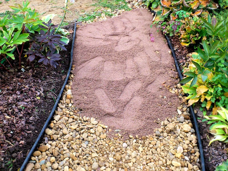 Первый этап – создание песчано-гравийной подушки