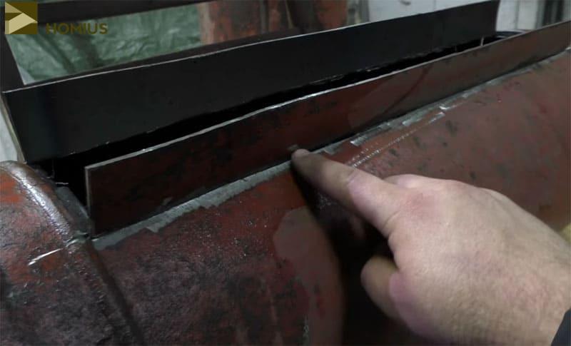 Вот такая прорезь с боковыми стенками должна получиться