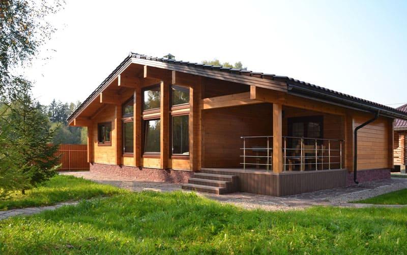 Отличный вариант загородного дома с террасой