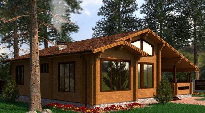Одноэтажные дома из бруса: вариант для простой семьи