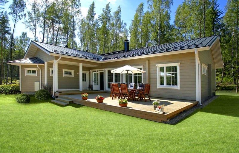 Одноэтажный домик в финском стиле
