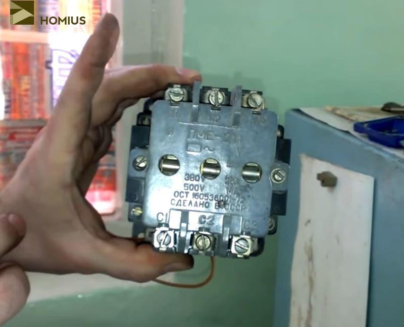 Электромагнитный пускатель ПМЕ-211 – выбран в качестве рабочего