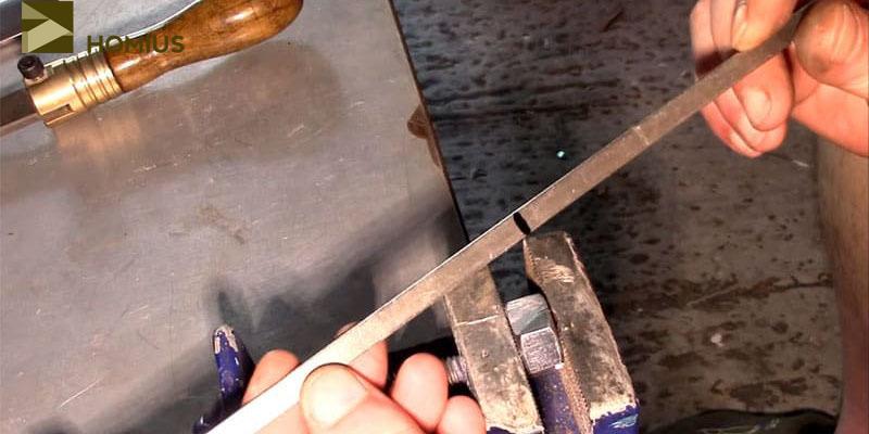 Отмечаем шампуры по размеру, который необходим