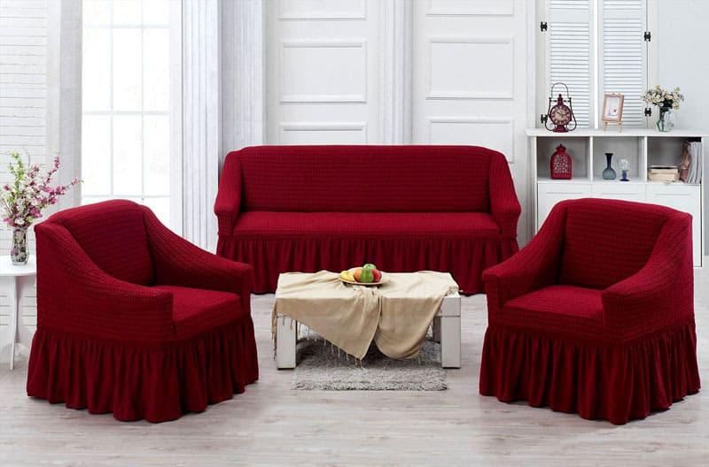 Такой комплект для мягкой мебели может существенно изменить дизайн интерьера