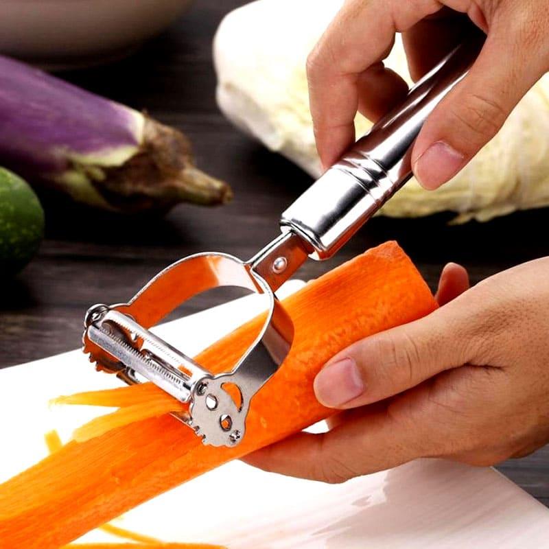 Если хотите быстро нарезать соломку из картофеля или моркови, вам нужен специальный слайсер