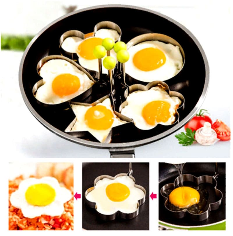 С этими формочками для глазуньи весёлый завтрак на каждый день вам обеспечен