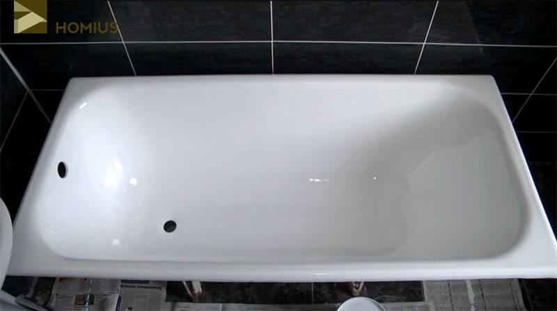 Внешне, после реставрации, ванна выглядит идеально