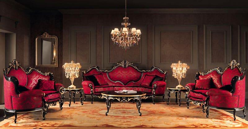 Плавность и витиеватость форм мебельных гарнитуров производят впечатление абсолютной уникальности и неповторимости