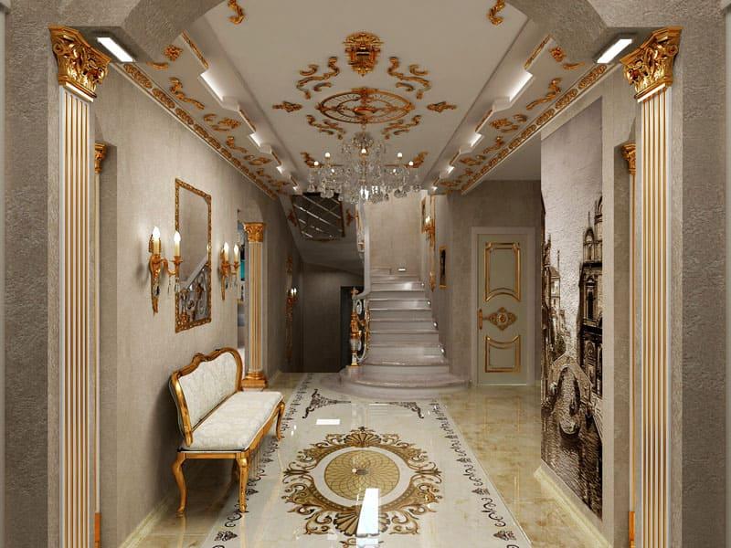 Половое и потолочное покрытие должно находиться в идеальном сочетании со стеновой отделкой