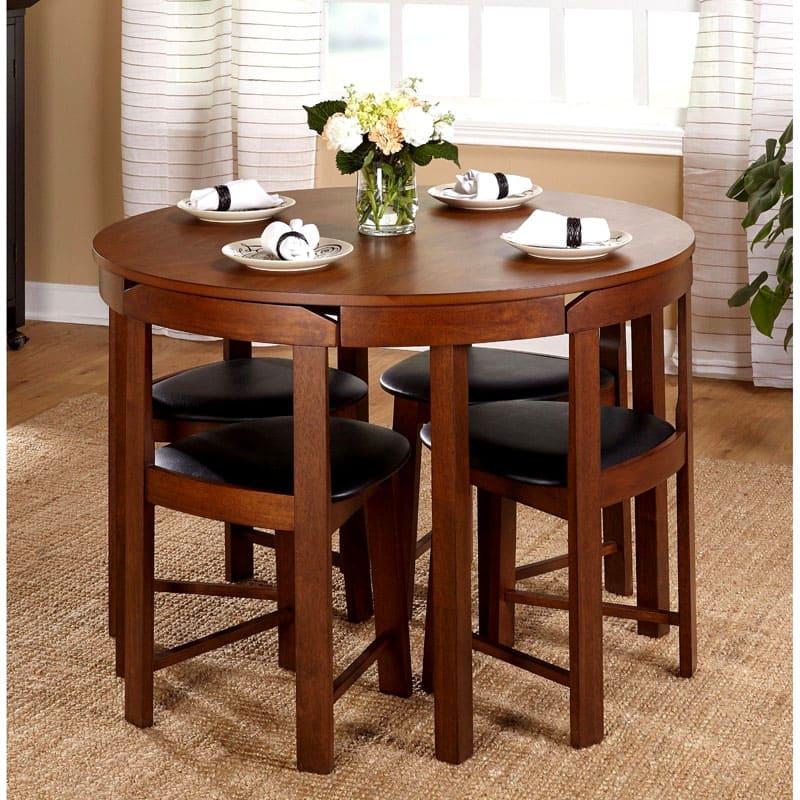 Вариант стола со скрытыми стульями