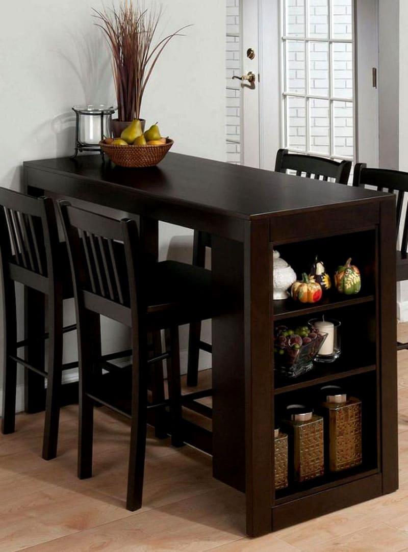 Компактный столик-полочка для кухни