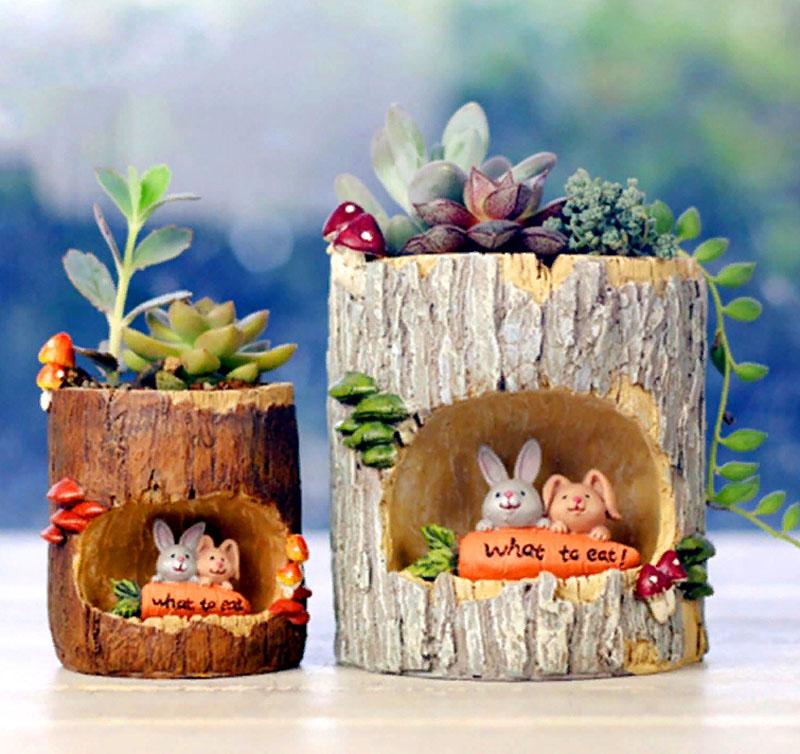 Если вы любители необычных инсталляций – этот вариант уличного вазона для вас