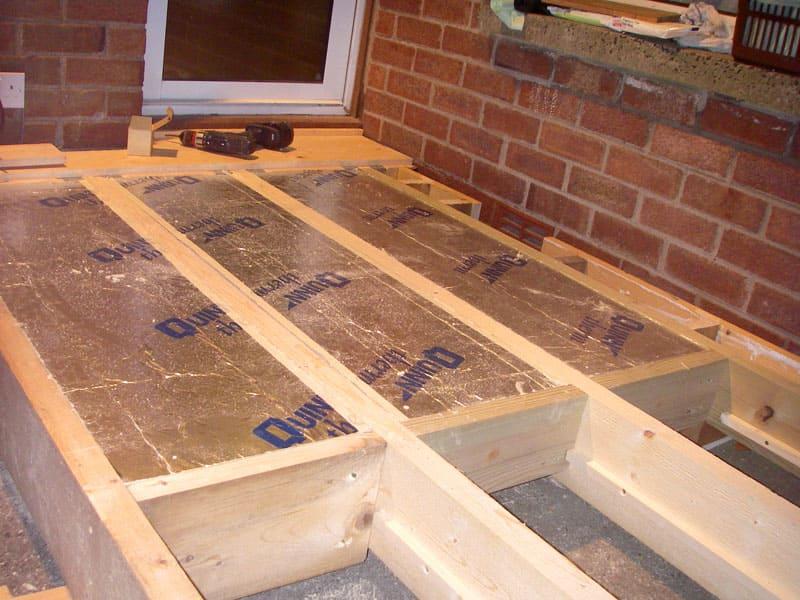 Вариант утепления деревянного пола на бетоне
