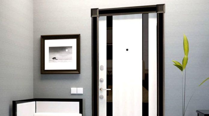 Два в одном: входные двери с зеркалом для прихожей