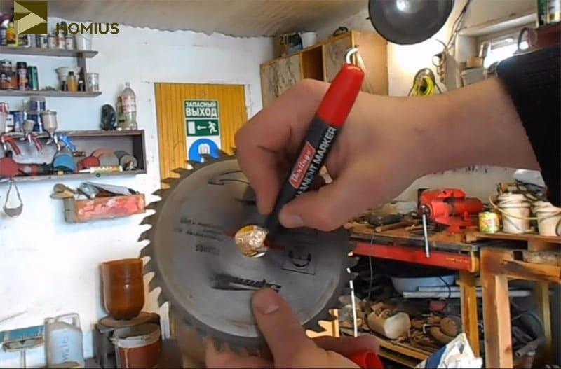 Вот такой диск наиболее оптимален для изготовления ямобура