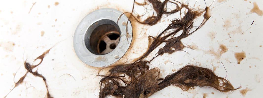 Защита слива от волос