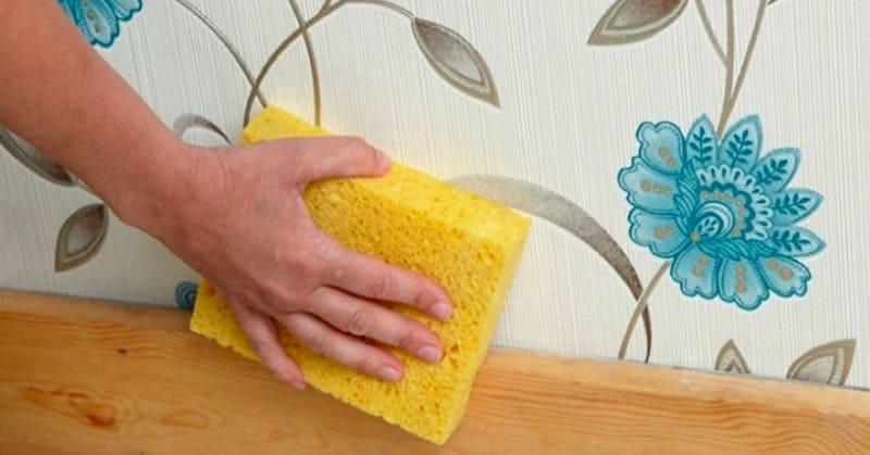 Текстильные бесшовные обои признают только сухую чистку