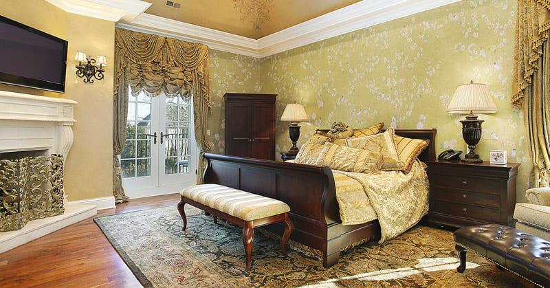 Бесшовные обои — идеальный вариант для спальни