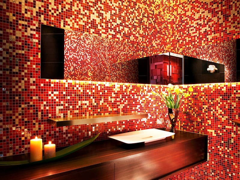 Мозаика – это идеальный вариант для отделки эксклюзивных ванных комнат