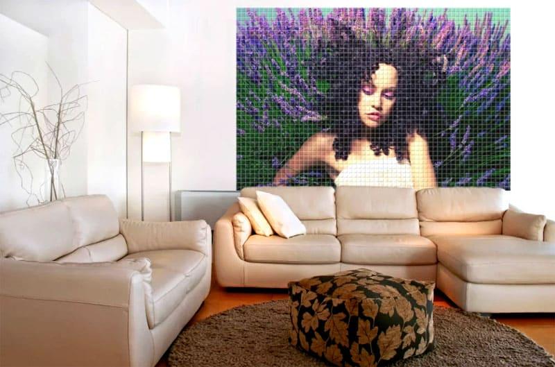 Панно из мозаики станет настоящим украшением интерьера
