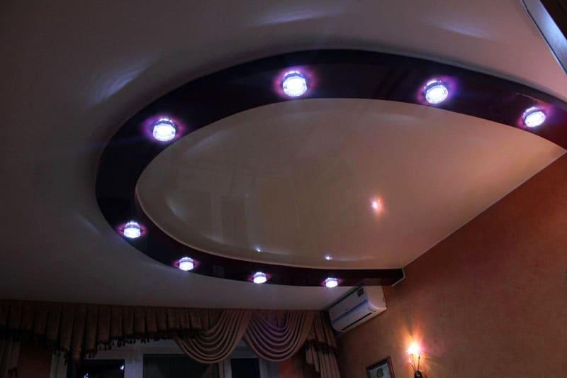 Полукруг используется в качестве основы для установки светильников